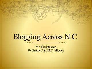 Blogging Across N.C.