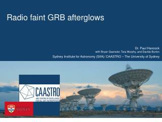Radio faint GRB afterglows