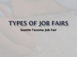 Types of Job Fairs