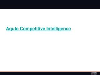 Competitive intelligence will help you win