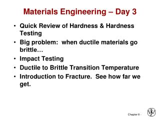 Materials Engineering   Day 3