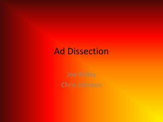 Ad Dissection