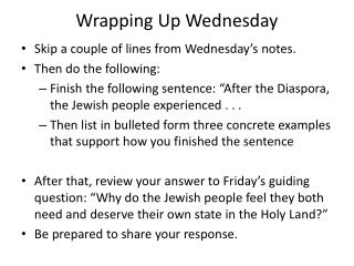 Wrapping Up Wednesday