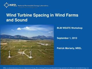 Wind Turbine Spacing in Wind Farms and Sound