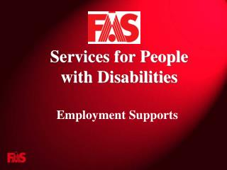 Services for People  with Disabilities