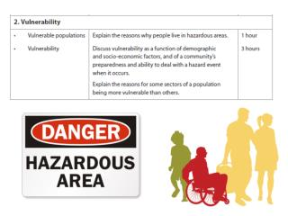 People only live in hazardous areas because they don't know any different