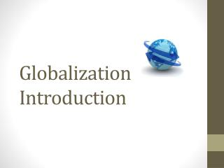 Globalization Introduction