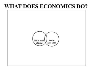 WHAT DOES ECONOMICS DO?