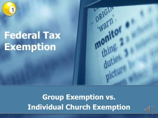 Federal Tax Exemption
