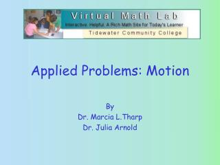 Applied Problems: Motion