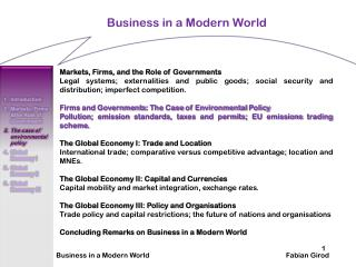 Business in a Modern World