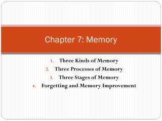 Chapter 7: Memory
