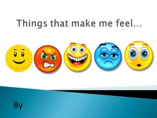feelings powerpoint