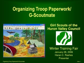 Organizing Troop Paperwork/ G-Scoutmate