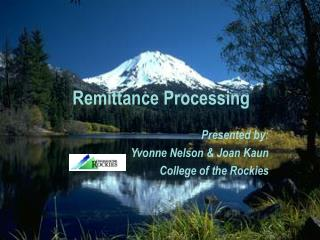 Remittance Processing