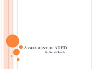 Assessment of ADHD