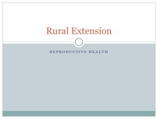 Rural Extension