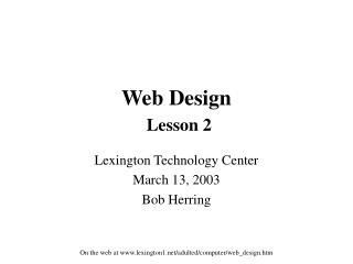 Web Design Lesson 2