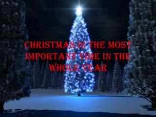 Christmas is the most important time in the whole year