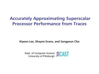 Accurately Approximating Superscalar Processor Performance from Traces