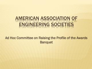 AMERICAN  ASSOCIATION OF ENGINEERING SOCIETIES