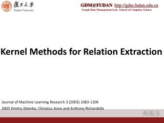 Kernel Methods for Relation Extraction