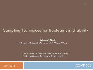 Sampling Techniques for Boolean  Satisfiability