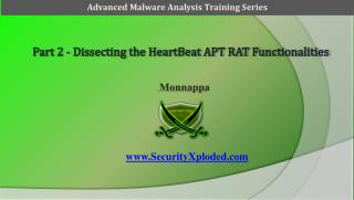 Part 2 -  Dissecting the HeartBeat APT RAT Functionalities