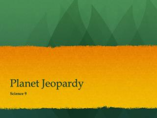 Planet Jeopardy
