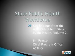 State Public Health Workforce