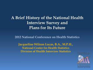 2012 National Conference on Health Statistics