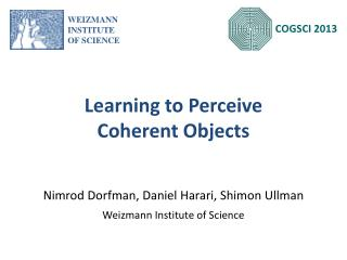 Learning to Perceive Coherent Objects