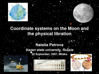 Coordinate systems on the Moon and the physical libration