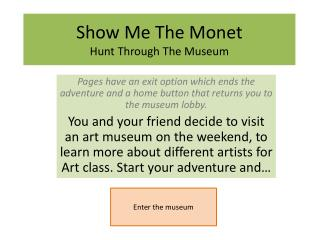 Show Me The Monet Hunt Through The Museum