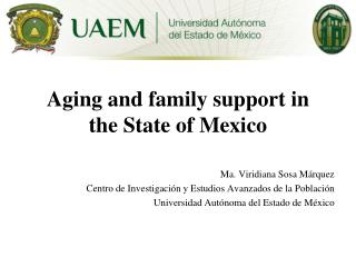 Aging and family support in the State of Mexico