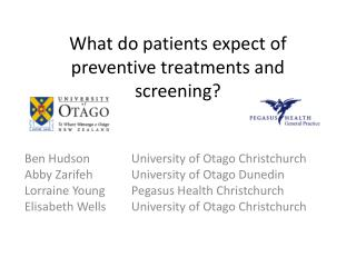 What do patients expect of preventive treatments and screening?
