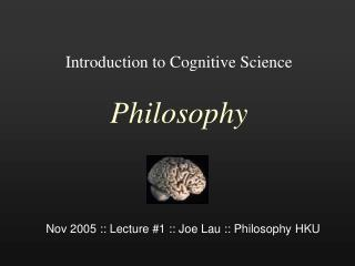 Introduction to Cognitive Science Philosophy
