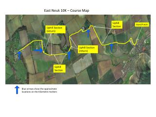 East  Neuk  10K – Course Map