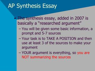 AP Synthesis Essay