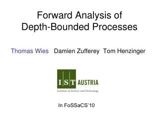 Forward Analysis of  Depth-Bounded Processes