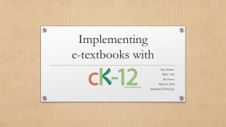 Implementing e-textbooks with