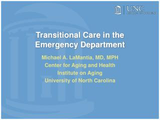Transitional Care in the Emergency Department