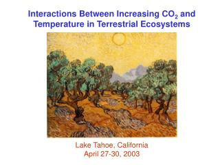 Interactions Between Increasing CO 2  and Temperature in Terrestrial Ecosystems