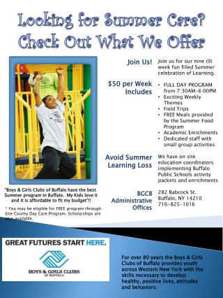 Looking for Summer Care? Check Out What We Offer