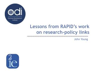 Lessons from RAPID's work on research-policy links