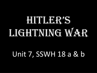 Hitlers Lightening War