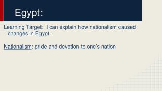 Egypt: