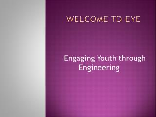 Welcome to eye