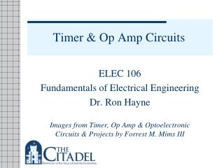 Timer & Op Amp Circuits