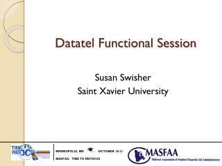 Datatel Functional Session
